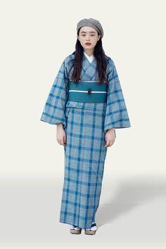 Kimono Fashion, Fashion Art, Yukata, Streetwear, Character Design, Japan, Hair, Blue, Photography