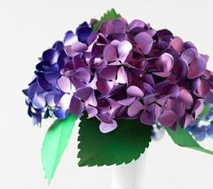 Paper hydrangea flowers by Lia Griffith with Creativebug. Make It Now in Cricut Design Space