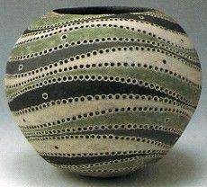 Tsubo by Kamoda Shoji, Pottery Painting, Ceramic Painting, Ceramic Art, Japanese Ceramics, Japanese Pottery, Ceramic Pottery, Pottery Art, Earthenware, Stoneware