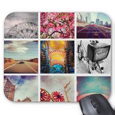 Custom Instagram Photo Collage Mousepad - template gifts custom diy customize