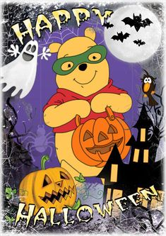 61 Ideas Phone Wallpaper Quotes Disney Winnie The Pooh For 2019 Halloween Cartoons, Disney Halloween, Winnie The Pooh Halloween, Halloween Prints, Halloween Pictures, Halloween Art, Happy Halloween, Snoopy Halloween, Halloween Greetings