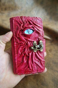 Handmade leather iphone 6 case / vintage leather iPhone cover / leather case for iPhone 6 / Dragon Eye design by Smyrnacrafts on Etsy