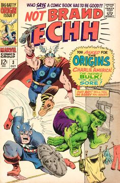 NOT BRAND ECHH 3 SILVER AGE MARVEL COMICS, Loved names like the Mighty Sore!