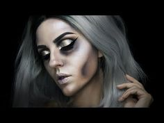 10 Stunning Makeup Ideas for Halloween Pretty Zombie Makeup, Halloween Zombie Makeup, Amazing Halloween Makeup, Zombie Prom, Pretty Halloween, Maquillaje Halloween, Crazy Makeup, I Love Makeup, Scary Halloween