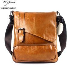 YUESKANGAROO  Men's leisure bag vertical Cowhide Leather Satchel trade  8239 #Affiliate