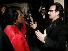 Bono and James Brown #u2newsactualite #u2newsactualitepinterest #u2 #bono #jamesbrown #music #rock