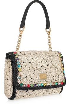 Dolce & Gabbanа crochet purse [I like the idea of colored or solid metal/plastic studs on edge
