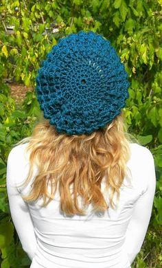 Popcorn Slouch Beret Crochet Pattern-Permission to by smeckybits