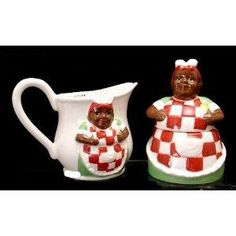 Aunt Jemima Sugar And Creamer Set