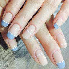 7 DIY Summer Manicures Although I'm usually wearing my go-to white, nude, or soft pink (love Chantilly Lace) nail polish for summer, I'm always looking for fresh manicure ideas. Nail Art Designs, Nails Design, Pedicure Designs, Nail Polish Designs, Manicure E Pedicure, Manicure Ideas, White Manicure, Nail Tips, Nagel Hacks