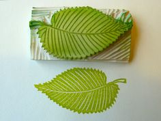 a Stamp a Day: elm tree, elm leaf, elm seed