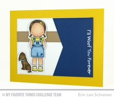 Woof You Stamps Set, Woof You Die-namics, Stitched Jumbo Fishtail Banner STAX Die-namics - Erin Lee Shreiner  #mftstamps
