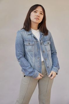 Paige Denim's Rowan jacket will slot seamlessly into your casual capsule. Subtly washed and faded for a lived-in look, it's cut from premium cotton denim. We like its versatility - layer it over everything from dresses to shirts. Embroidered Jacket, Paige Denim, Rowan, Size Model, Slot, Casual, Cotton, Jackets, Shirts