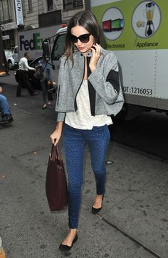 How To Wear Those Printed Jeans, Courtesy Of Miranda Kerr