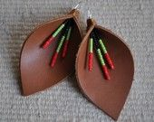 Calla Lily Mexicana Genuine Leather Earrings