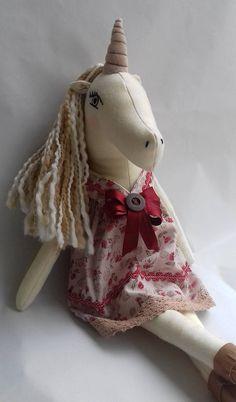 Unicorn doll handmade doll rag doll girl present