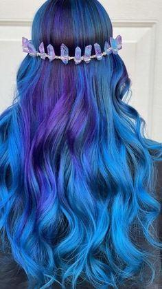 Galaxy Hair Color, Vivid Hair Color, Girl Hair Colors, Cute Hair Colors, Pretty Hair Color, Bright Hair Colors, Hair Color Purple, Hair Dye Colors, Hair Color For Black Hair