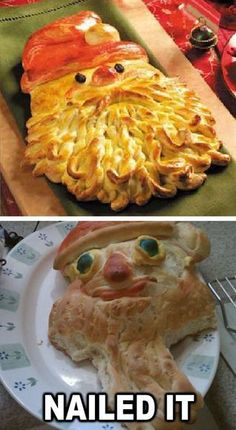 Funny pictures about Santa Bread? Nailed it. Oh, and cool pics about Santa Bread? Nailed it. Also, Santa Bread? Nailed it. Ricky Martin, Santa Bread, Baking Fails, Fail Nails, Food Fails, Pinterest Fails, Pinterest Craft, Pinterest Projects, Pinterest Recipes