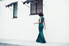 black tie ready » STYLE ME GRASIE #stjohnknits @stjohnknits #green #gown