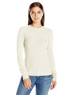 Women's Pullover Sweaters - Sag Harbor Womens Long Sleeve Braided Cable Crew Neck Cashmerlon Sweater * Want to know more, click on the image. (This is an Amazon affiliate link)