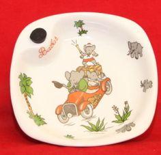 Babar Porcelain Toddler Warming Bowl Philippe Deshoulieres Lourioux France | eBay