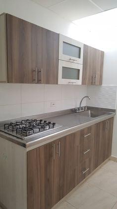 Simple Kitchen Design, Kitchen Room Design, Interior Design Kitchen, Kitchen Decor, Kitchen Sets, Kitchen Layout Plans, Small Kitchen Layouts, Kitchen Cupboard Designs, Kitchen Cabinet Remodel