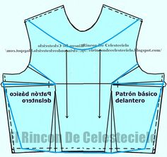 El Rincon De Celestecielo: Types of necklines. Boat neckline, eyelet or tray… Sewing Patterns Free, Clothing Patterns, Types Of Necklines, Pattern Drafting, Blouse Styles, Hobbies And Crafts, Sewing Hacks, Athletic Tank Tops, Crop Tops