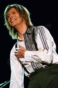 David Bowie at the Netaid Concert 1999