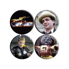 Doctor Who 7th Seventh Doctor handmade badges by Goaheadmakemybadge