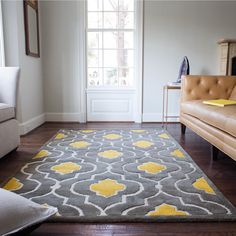 Hand-tufted Logan Grey/ Gold Wool Rug (7'10 x 11'0) - Overstock™ Shopping - Great Deals on Alexander Home 7x9 - 10x14 Rugs
