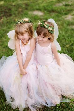 Fairy Flower Girls | Romantic Wedding with Beautiful Blooms | Two Birds Photography | Bridal Musings Wedding Blog 26