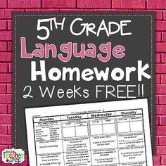 daily language review 5th grade pdf