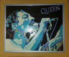 Freddie Mercury Glass Painting https://www.facebook.com/AngiesGlassworks?fref=ts