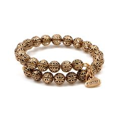 Vintage inspired and designed with intricate details, the Kingston Wrap is embellished with delicate, metal filigree beads. Each bracelet is adjustable for the perfect fit and available in Russian Gold and Russian Silver finishes. Dress up or down, layer,
