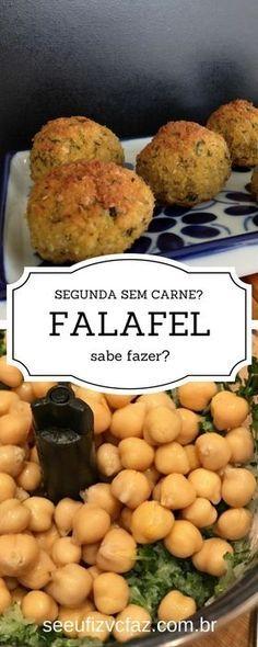 falafel: opção vegana, vegetariana... opção para quem quer comer bem sem ter muito trabalho!
