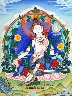 """ARYA TARA LOTER YANGCHENMA: """"Homage, Mother whose face is filled with the light of an array of a hundred full autumn moons, shining with the brilliant open light of the hosts of a thousand stars."""""""