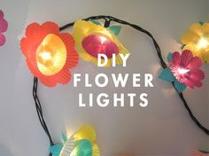 DIY paper flower string lights -- great for a garden party! http://www.partylights.com/Mini-Lights