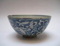 A Late Ming Swatow White On Blue Bowl Blue Bowl, Fine China, Asian Art, Tea Cups, Archive, Porcelain, Blue And White, Pottery, Ceramics