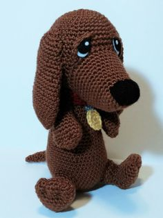 Snoopy The Little Dachshund Amigurumi por LisaJestesDesigns en Etsy