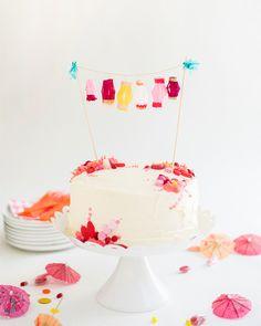 Mini Paper Lanterns Cake Topper DIY