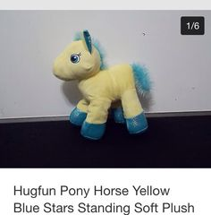 Yellow hug fun pony