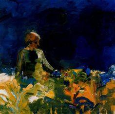 Elmer Bischoff, Mujer con cielo azul oscuro, 1959. Óleo sobre lienzo, 172.2 X 172.2 cm, Hirshhorn Museum and Sculpture Garden, Smithsonian Institution, Washington