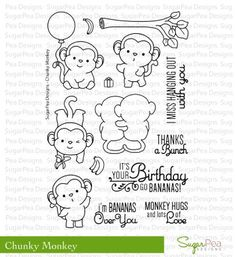 Sugar Pea Designs Clear Stamp-Chunky Monkey