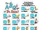 The ABCs of Dr. Seuss Poster