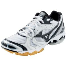 Mizuno Wave Wave Bolt 2 Womens Volleyball Shoe - Parallel Mizuno Wave Technology uniformly disperses shock throughout the sole, providing lightweight cushioning and enhanced stability - Suspension system which connects the Wave plate to the ground, thereb Volleyball Gear, Women Volleyball, Air Max Sneakers, Sneakers Nike, Sports Equipment, Nike Air Max, Running Shoes, Bolt 2, Wave