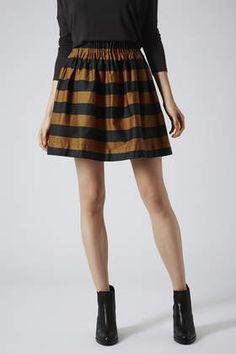 Stripey Skirt // Topshop