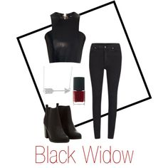 Black Widow by el0723 on Polyvore featuring polyvore, fashion, style, Balmain, Cheap Monday, Jewel Exclusive and NARS Cosmetics