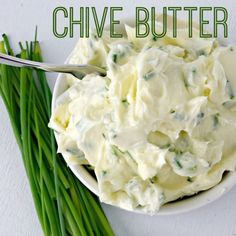 Chive Butter is super simple to make and can really dress up a meal from, bread to steak, potatoes to pasta. Yum!