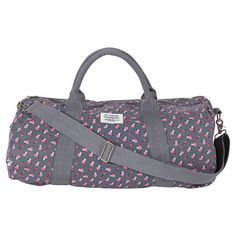 Floral Duffle   Gym Bag - neutral while being a little bit girly! Cute Gym 2818eeeba4003
