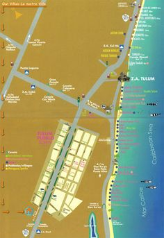 Tulum Hotel Map Tulum mappery Tulum Pinterest Tulum hotels